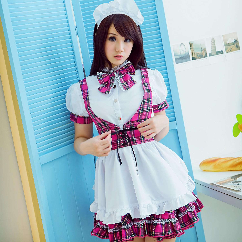 夢幻公主COSPLAY短袖洋裝大蝴蝶結女僕裝~A433...