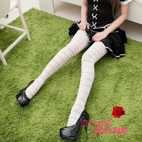 層次個性混搭白色開檔絲襪~嫵媚貼膚性感絲襪~美腿開檔絲襪~約...