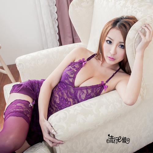 睡衣~完美性感睡衣蕾絲睡衣半透女睡衣可愛情趣睡衣~A072...
