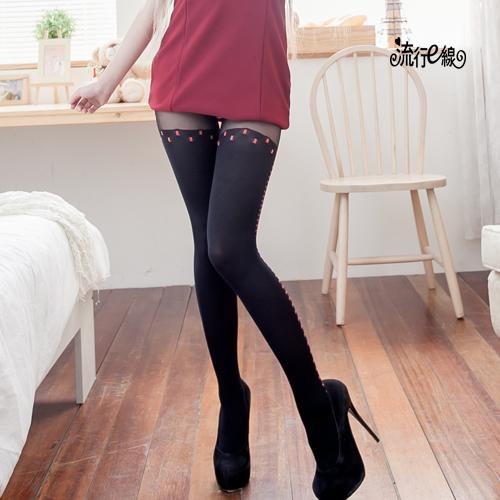 花紋造型褲襪款開檔絲襪~美腿性感褲襪~B354...