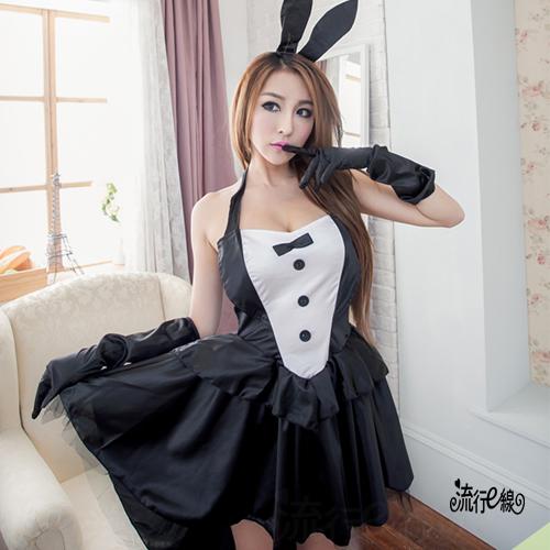角色扮演女王兔女郎~華麗COSPLAY兔女郎燕尾服式低胸性感兔女郎...