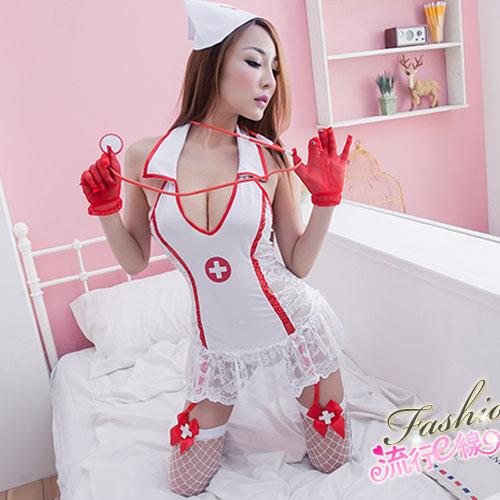 角色扮演半透性感護士服 送大腿襪~A669...