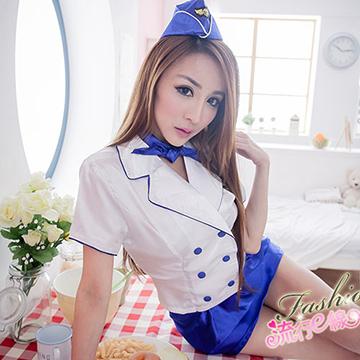 COSPLAY服裝空姐制服,藍白角色扮演服美麗女空姐A680...