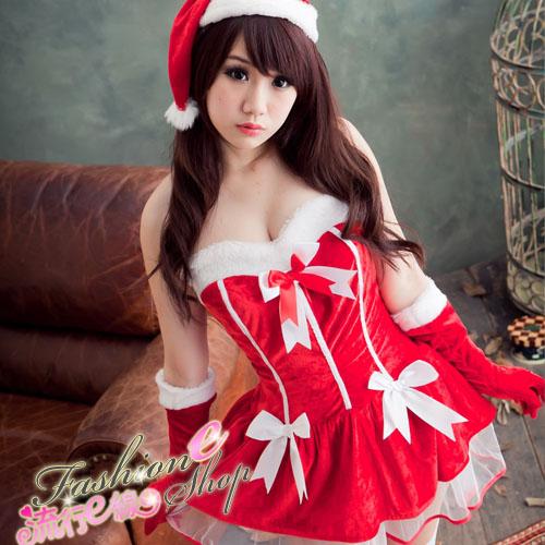 M/XL聖誕節跨年角色扮演制服派對聖誕裝含聖誕帽*F010...