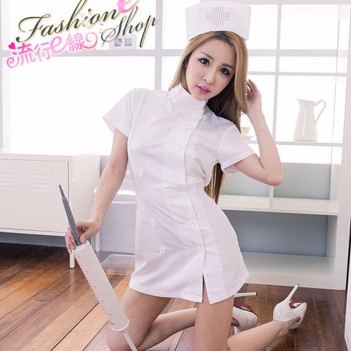 氣質側釦護士服~角色扮演服cosplay服裝性感護士服~流行E線A7043...