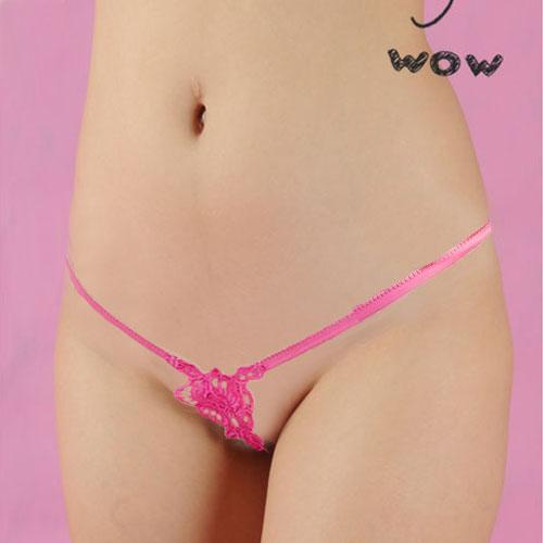 誘惑性感丁字褲~超低腰裸空半透情趣內用內褲~B566