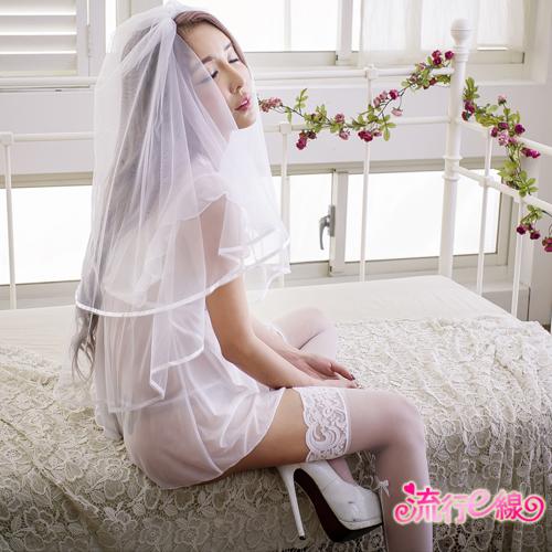 甜心女睡衣 荷葉深V薄紗睡衣甜美性感睡衣~A7153...