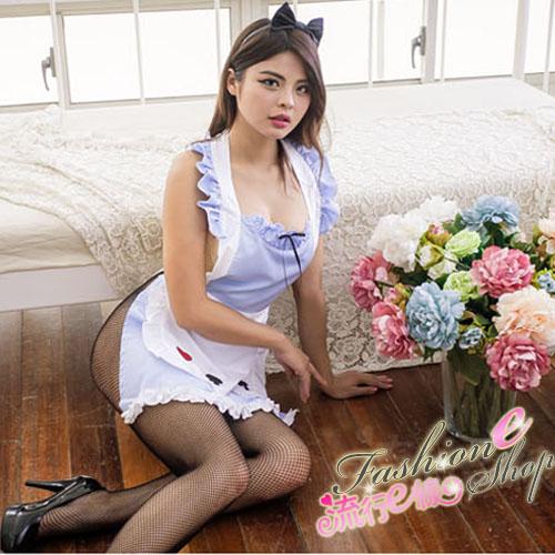 甜心女僕藍白圍兜式女僕制服角色扮演性感女僕~A7154...