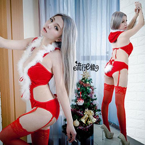 S~XXL大尺碼連身聖誕裝 F072...