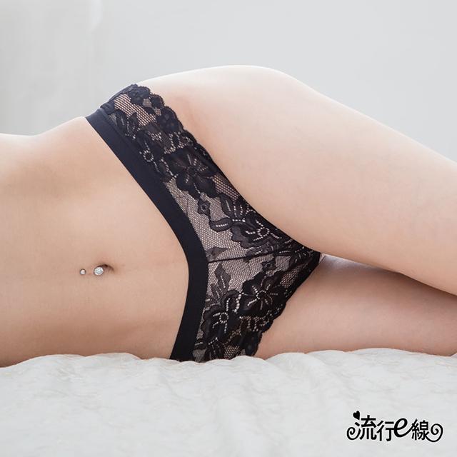 黑色白色丁字褲 蕾絲女性內褲 B6128...