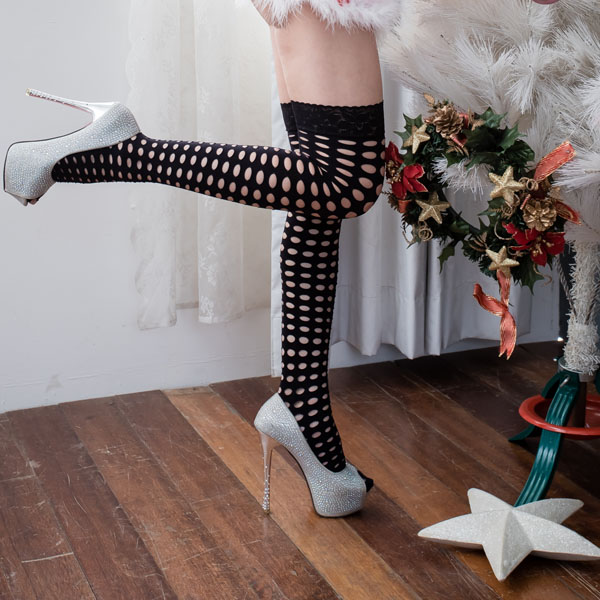 洞洞性感大腿襪 歐美熱賣大腿絲襪造型大腿襪 B8077...