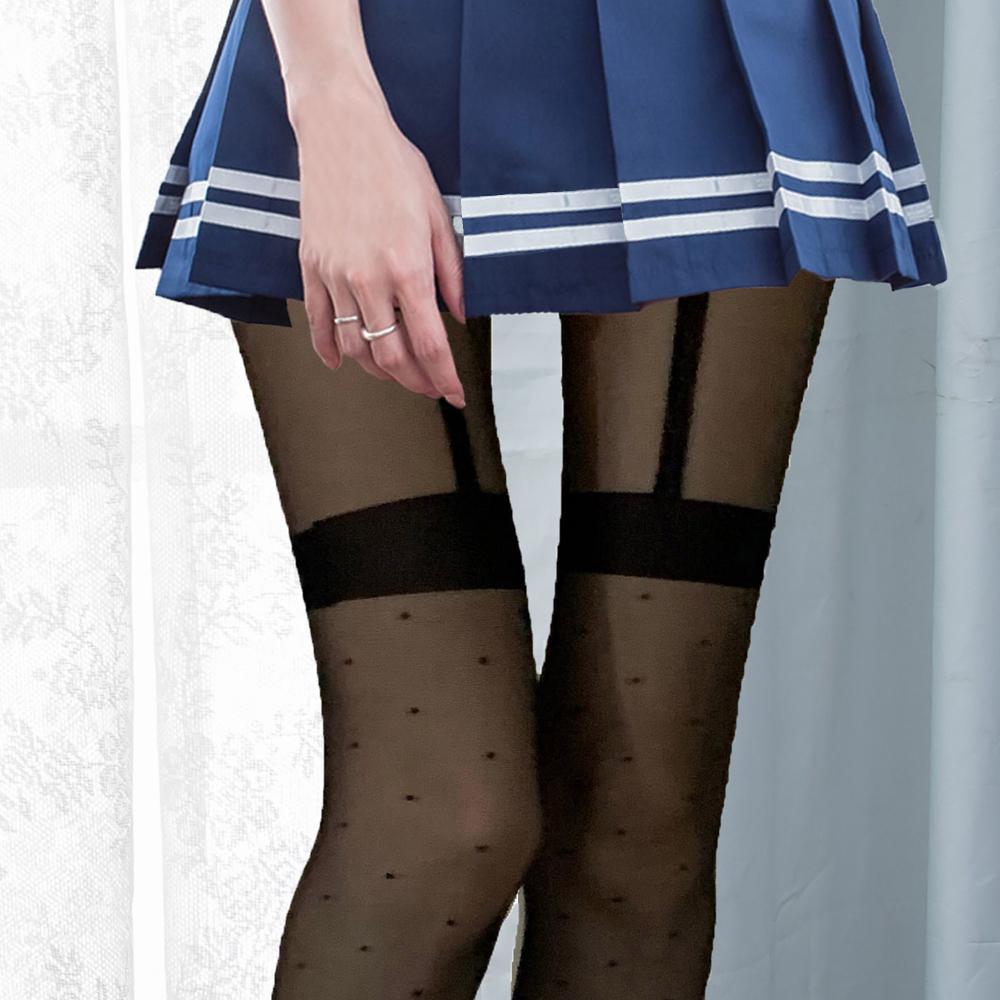 日系點點褲襪透膚黑絲襪 台灣製性感褲襪 B8125