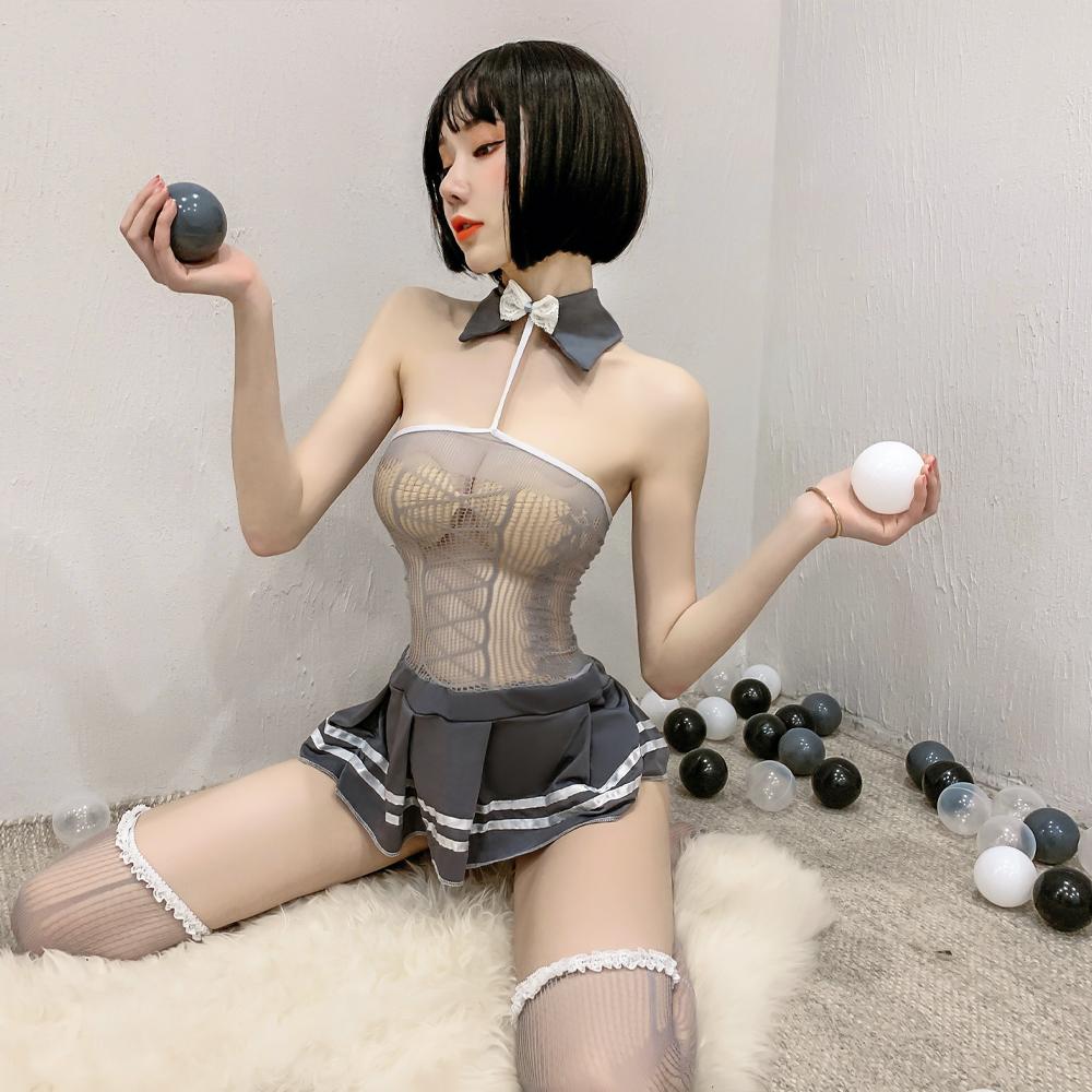 性感學生服 暗黑系透明網衣水手服 A7258...