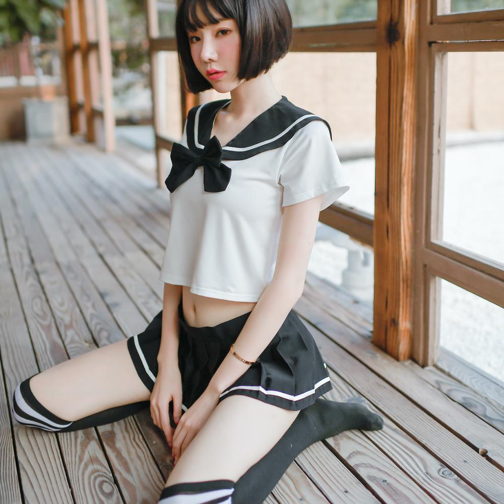 水手服 性感學生服 短袖上衣迷你裙角色扮演服~A7279...
