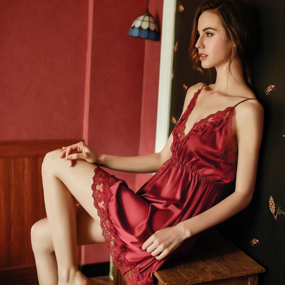 M-4XL性感睡衣 大尺碼柔緞居家睡衣~A7285