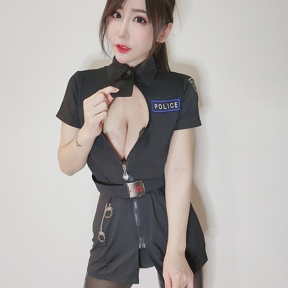 女警服 角色扮演服短袖洋裝女警制服 ~A7151...