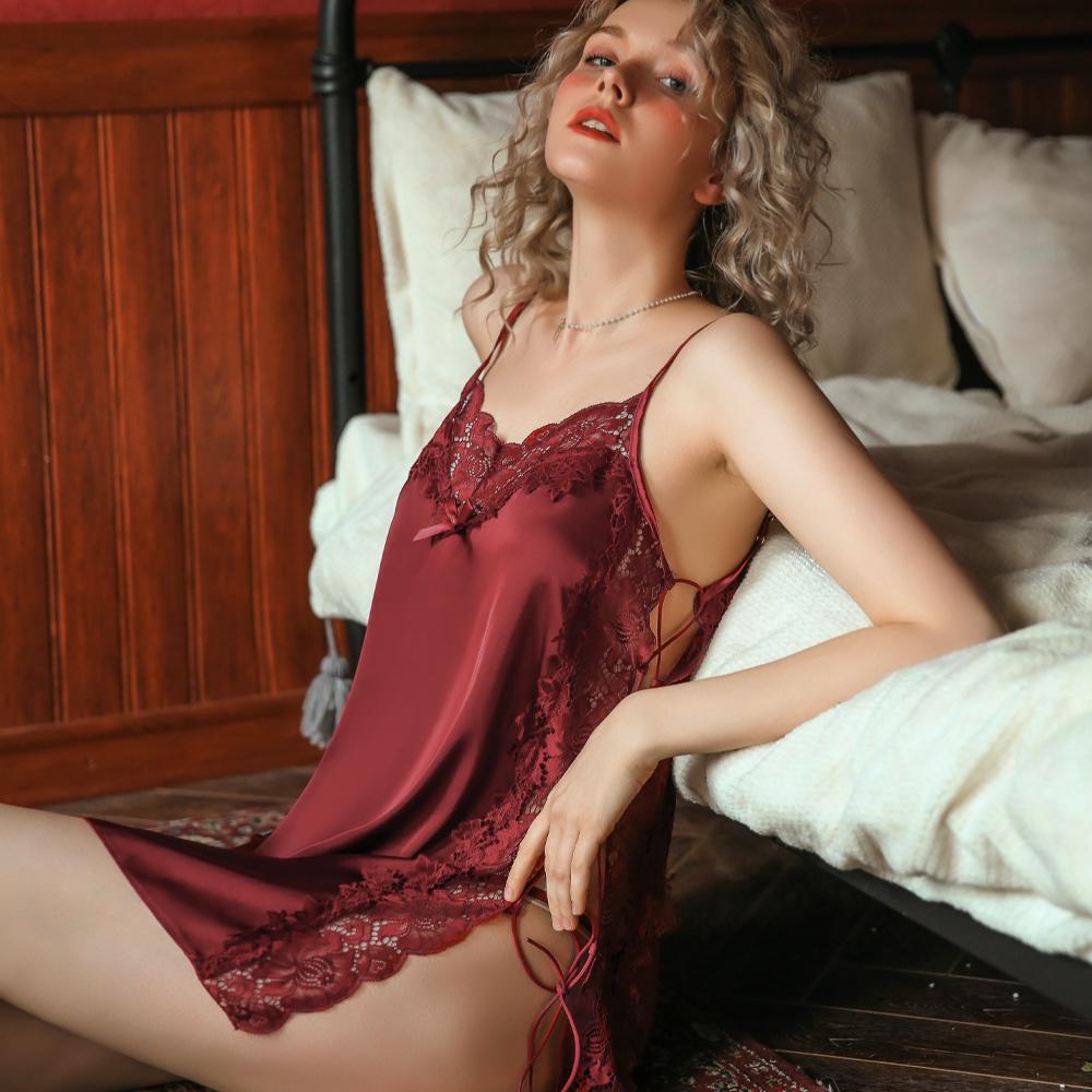 性感睡衣 細肩帶側綁帶性感睡衣居家睡衣 A7265...