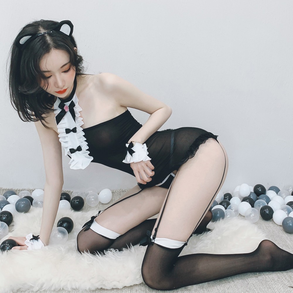 甜心貓咪情趣角色扮演表演服 含絲襪 ~A7314...