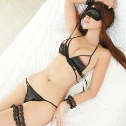 角色扮演爆乳性感比基尼內衣~萌系小女僕裝含眼罩多件組~【A125...