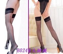 美腿透氣背線大腿襪~黑色.膚色~B024...