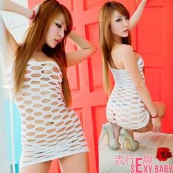 歐美熱銷一字洋裝式貓裝迷你裙-B141...
